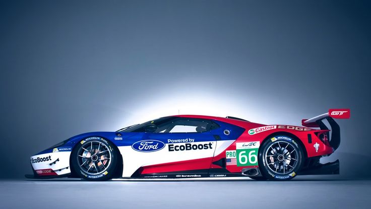 Ford's 2016 GT racer, being pushed into the deck by downforce and the weight of expectation