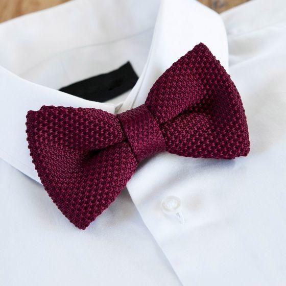 Nœud papillon tressé de couleur bordeaux #style #menstyle #suit #chic #look #mode #noeudpap