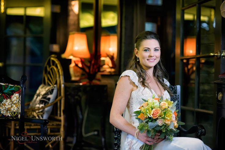 One of our beautiful brides Sheena, relaxing on the verandah.