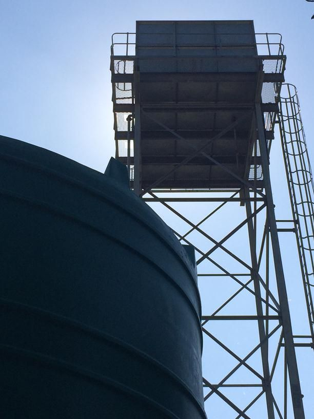 Water tanks at SME water supply company on outskirts of Maputo (2)