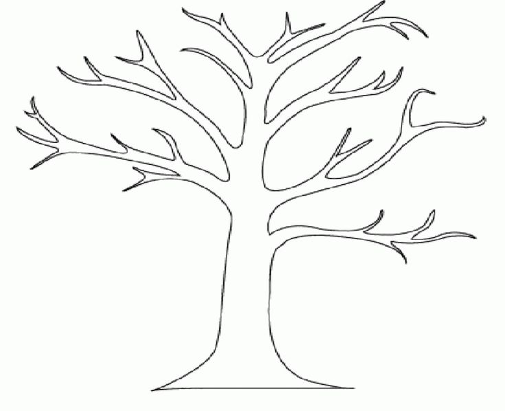Printable Tree Without Leaves Coloring For Kids Tree