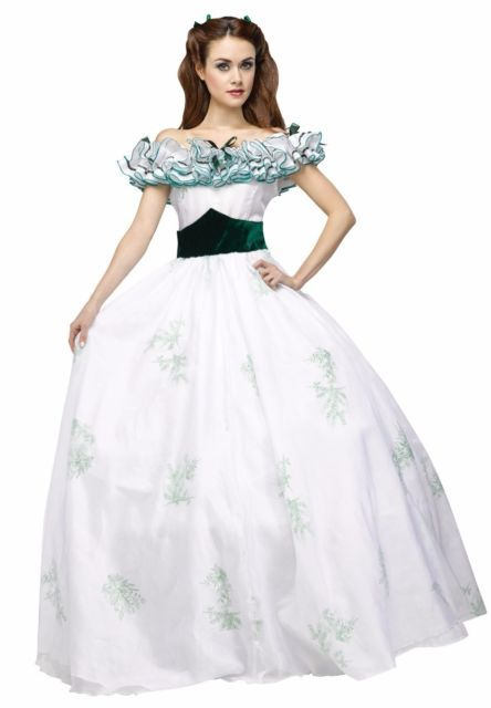 Deluxe Scarlett O'hara Dress Southern Belle Ohara Gone with the Wind Costume