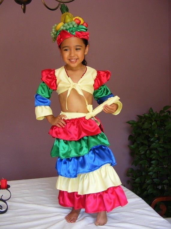 Unique Chiquita Banana/Carmen Miranda Halloween Costume for Toddler Girl Size 2t - 5 on Etsy, $115.00