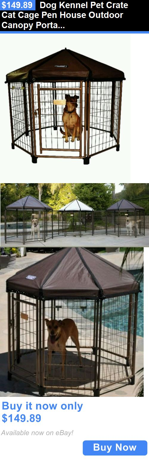 Animals Dog: Dog Kennel Pet Crate Cat Cage Pen House Outdoor Canopy Portable Shelter New BUY IT NOW ONLY: $149.89