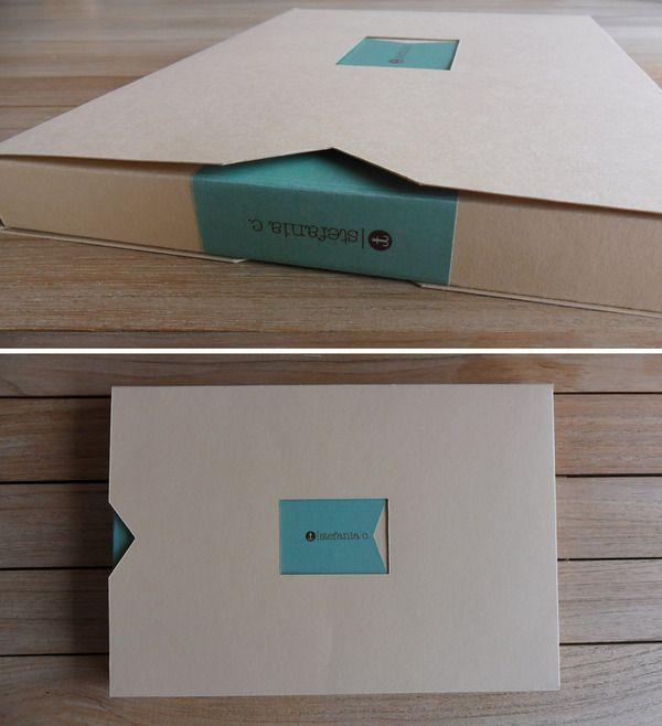 Clever portfolio packaging. Ge moet wel doorklikken, het wordt interessanter dan deze foto.