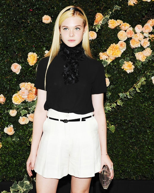 Elle Fanning plays muse to designers including Karl Lagerfeld and Marc Jacobs.