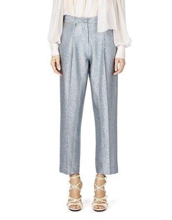 Pantaloni In Lurex A Pieghe