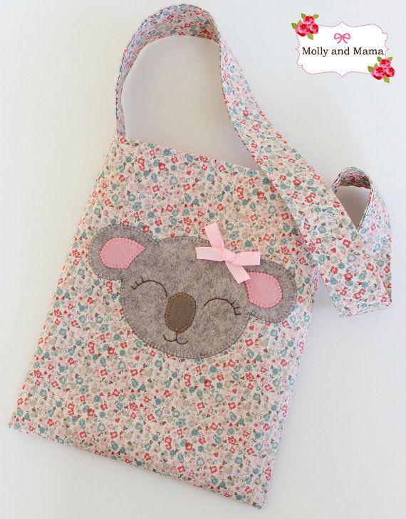 Koala CARRY BAG Pattern with Katie Koala Appliqué by MollyandMama
