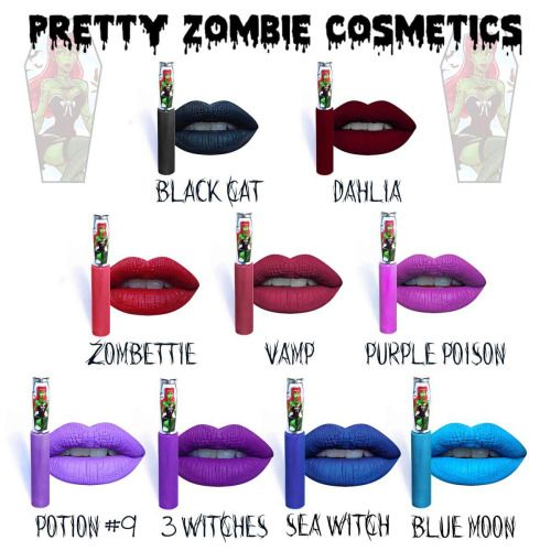I want them all!! ❤️ Pretty Zombie Cosmetics