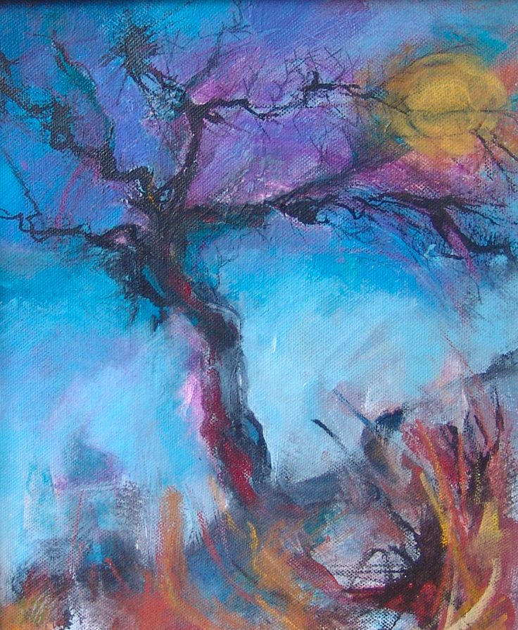 The Sun of Winter, the Hope of Spring Mixed media on canvas