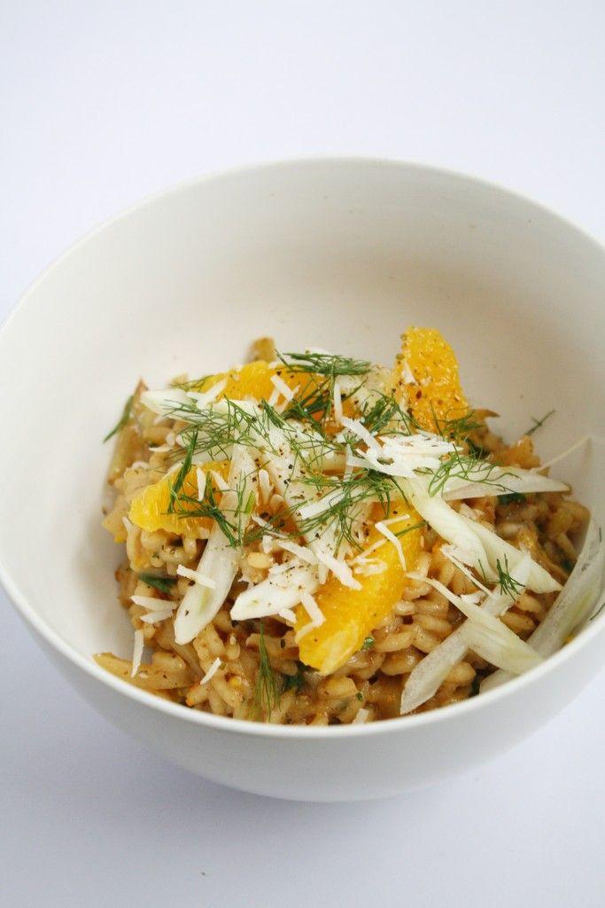risotto de hinojo y naranja