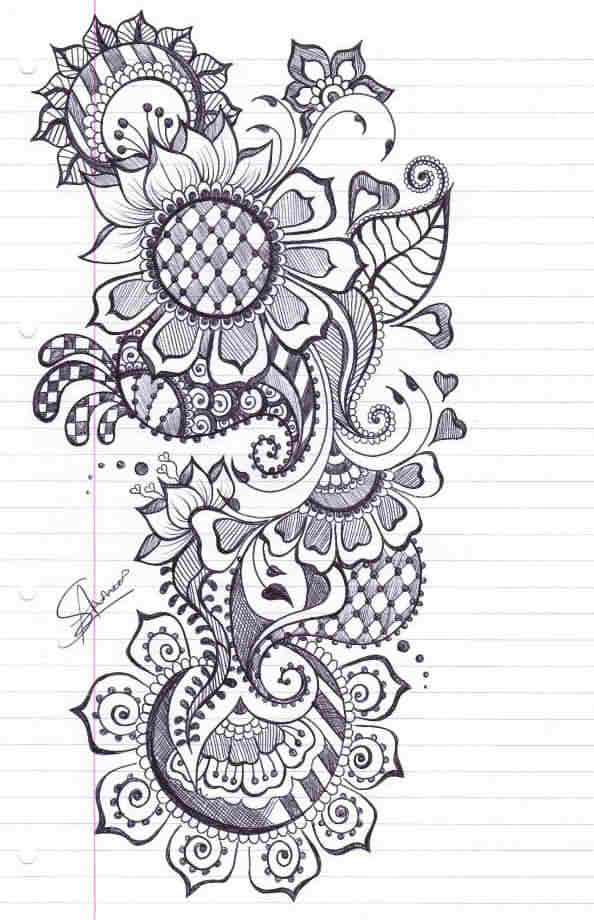 Mehndi Patterns Easy On Paper : Ideias sobre desenhos de mehndi no pinterest hena