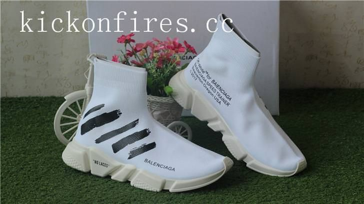 2fa4d1b8f27a Off White x Balenciaga Speed Trainer Trainer White | balenciaga ...