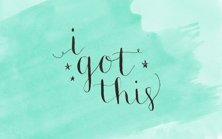 """Friday Freebie: """"I Got This"""" Calligraphy Wallpaper - The Nectar Collective"""