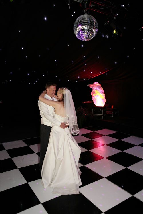 The first dance with a beautiful black background