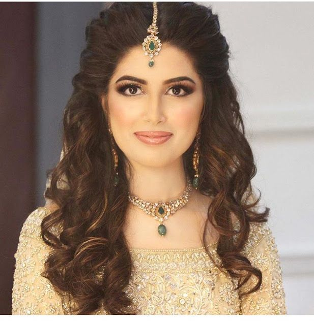 9 Stunning Reception Hairstyles   Indian bride hairstyle ...