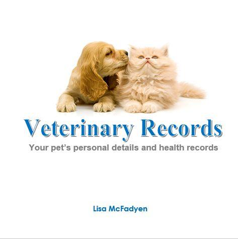 Vet record book   http://www.petrecordbooks.com/shop/veterinary-record-book