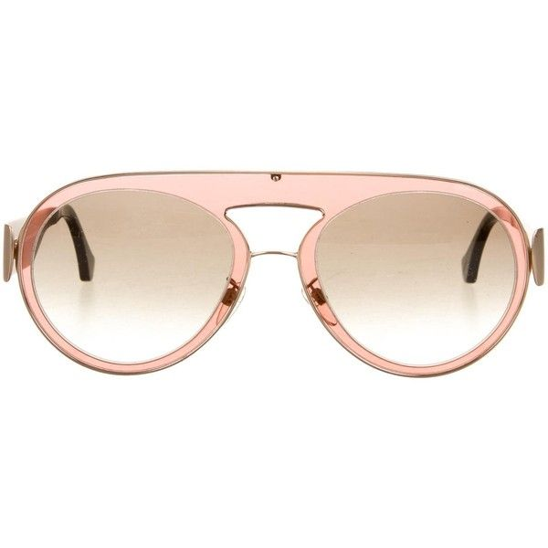 Pre-owned Balenciaga Oversize Tinted Sunglasses (£115) ❤ liked on Polyvore featuring accessories, eyewear, sunglasses, brown, oversized sunglasses, brown tinted glasses, tinted sunglasses, balenciaga sunglasses and balenciaga glasses