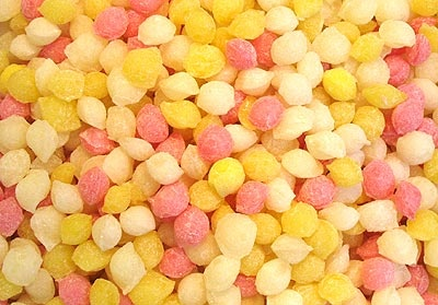 Sherbet Pips I remember the texture of a whole mouth full of them (me toooo!! as many as you could get in!!)