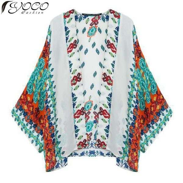 Find More Blouses & Shirts Information about New 2015 Europe and United States Woman's Blouses Fashion Retro Print Cardigan Kimono Ladies Chiffon Shirt Coat 15435,High Quality coat furniture,China coat hook Suppliers, Cheap coat pink from Yoco Fashion Apparel  on Aliexpress.com