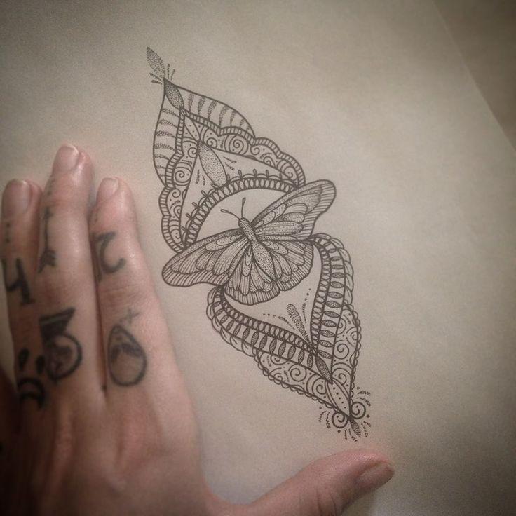 Migliori 25 idee tatuaggio mandala farfalla su Pinterest-8215