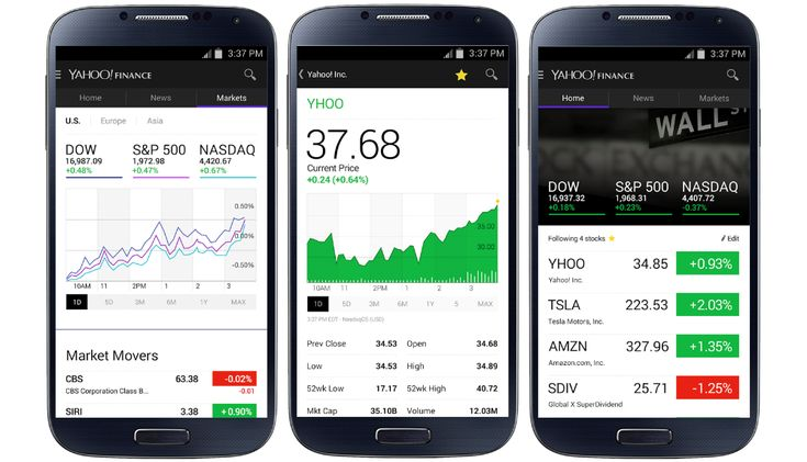 Yahoo Finance app for Android redesigned with real time quotes | http://www.thetechbulletin.com/yahoo-finance-app-android-redesigned-real-time-quotes-8703/