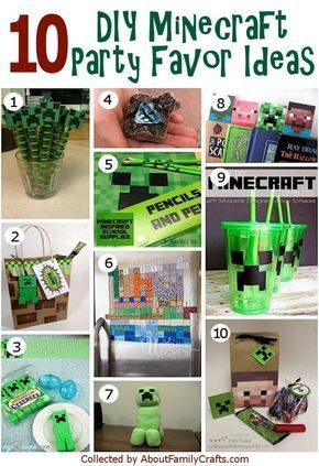 50+ DIY Minecraft Birthday Party Ideas   About Family Crafts
