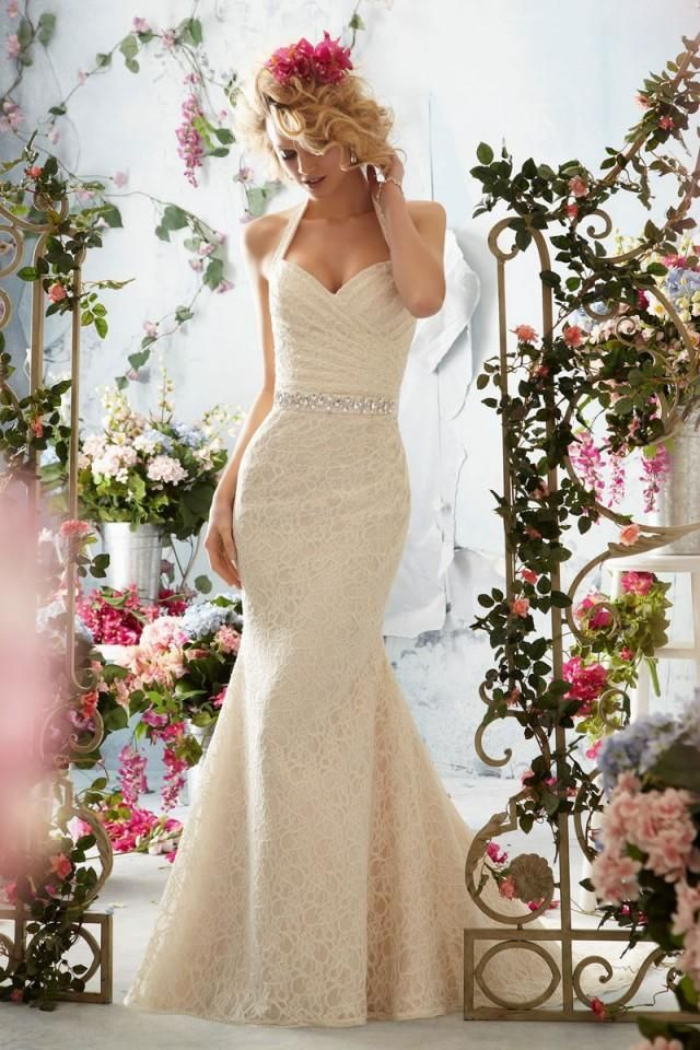 Structured Bodice Wedding Gown With Criss Cross #wedding #dress #fashion