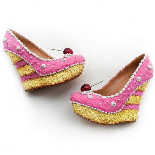 Shoes that look like cake and ice cream. I want them all! #shoebakery