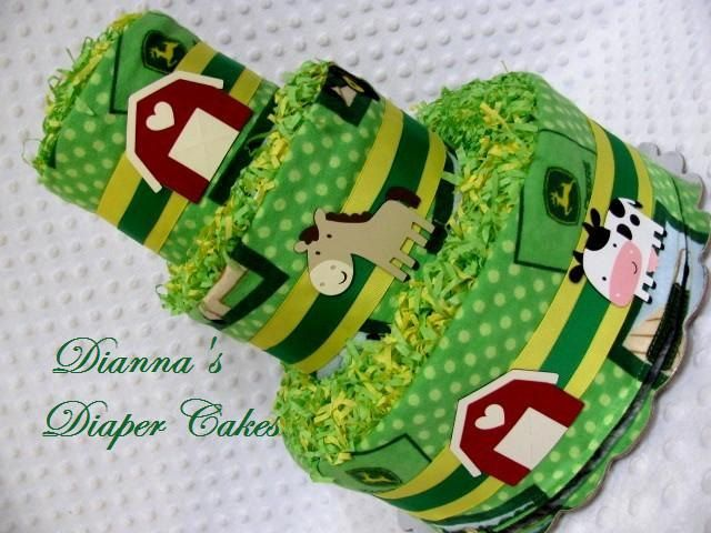 Baby Diaper Cakes John Deere, well er could always change the color to red and Case