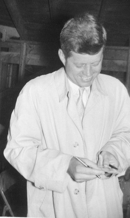 April 29th 1960. Senator JFK makes a speech on farm policy in Howard County