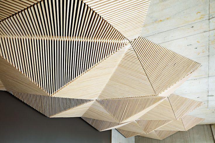 parametric wooden ceiling Assemble Studio / Assemble