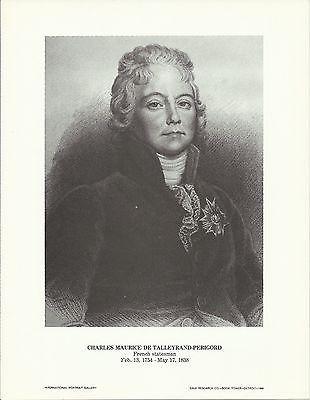 Charles Maurice de Talleyrand-Perigord Vintage Portrait Gallery Poster Print