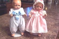 """Horsman """"Tynie Twins""""  Boy & Girl With Doll Stands"""
