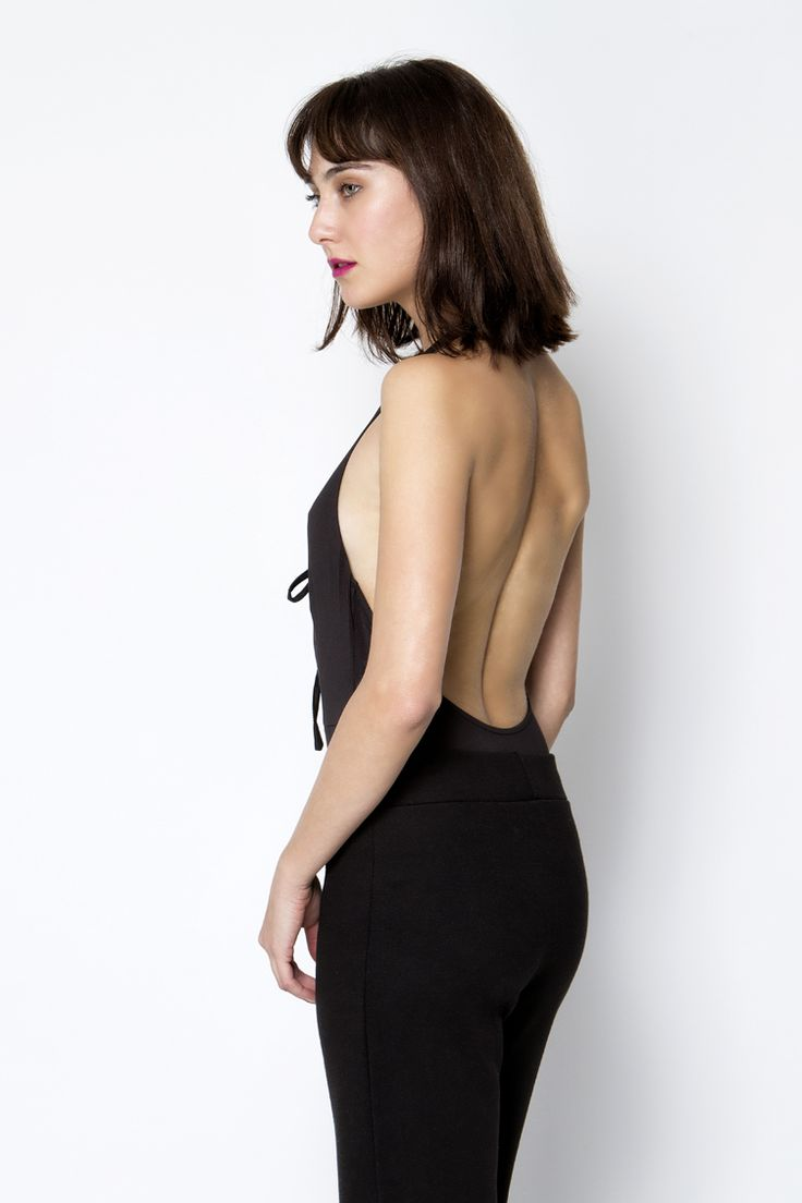 Backless Laced Up Κορμάκι - ΡΟΥΧΑ -> Μπλούζες | Made of Grace