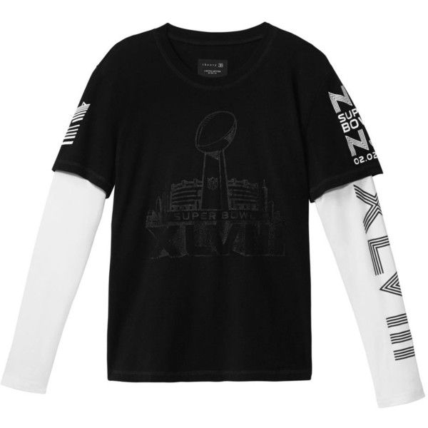 Theory Women's Dubletee NFL Long Sleeve Tee (1,695 MXN) ❤ liked on Polyvore featuring tops, t-shirts, long sleeve cotton tops, long sleeve cotton tees, long sleeve layering tee, nfl t shirts and cotton tees
