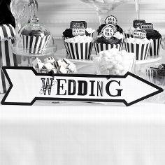 """Wegweiser """"Retro"""" für die Hochzeit"""