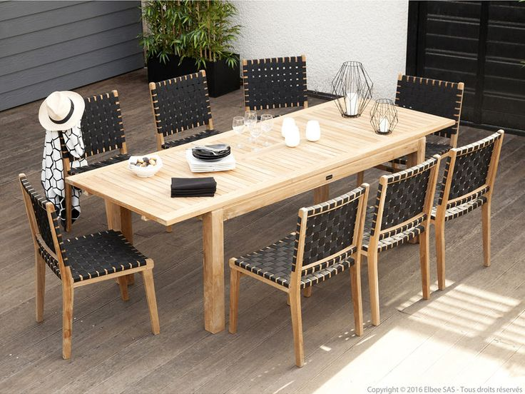 Best 25+ Table jardin teck ideas on Pinterest | Table teck, Table ...