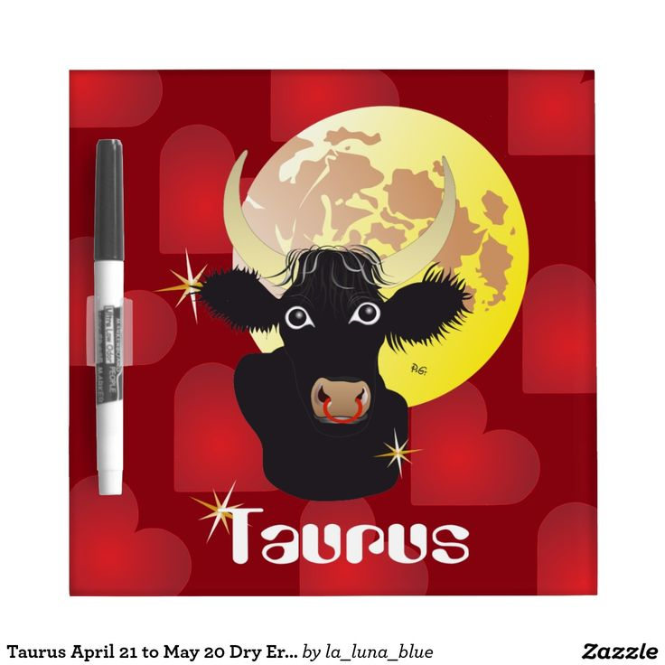 Taurus April 21 to May 20 Dry Erase Board Memo Boards