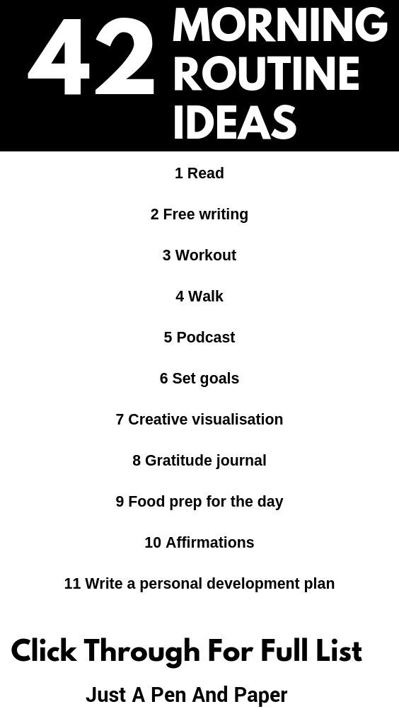 42 Ideas For a Daily Morning Routine