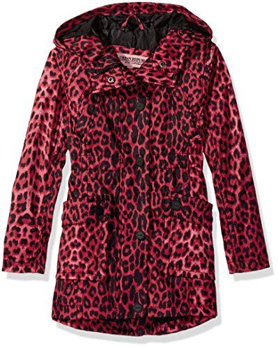 Urban Republic Big Girls' Trench Coat, Leopard Print, 10/...