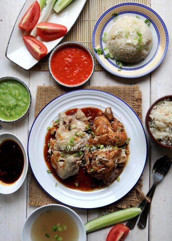 Resep Nasi Ayam Hainan Komplit dengan 3 Macam Saus JTT