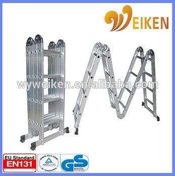 wuyi 4.7m 4*4 step aluminium multi-purpose ladder