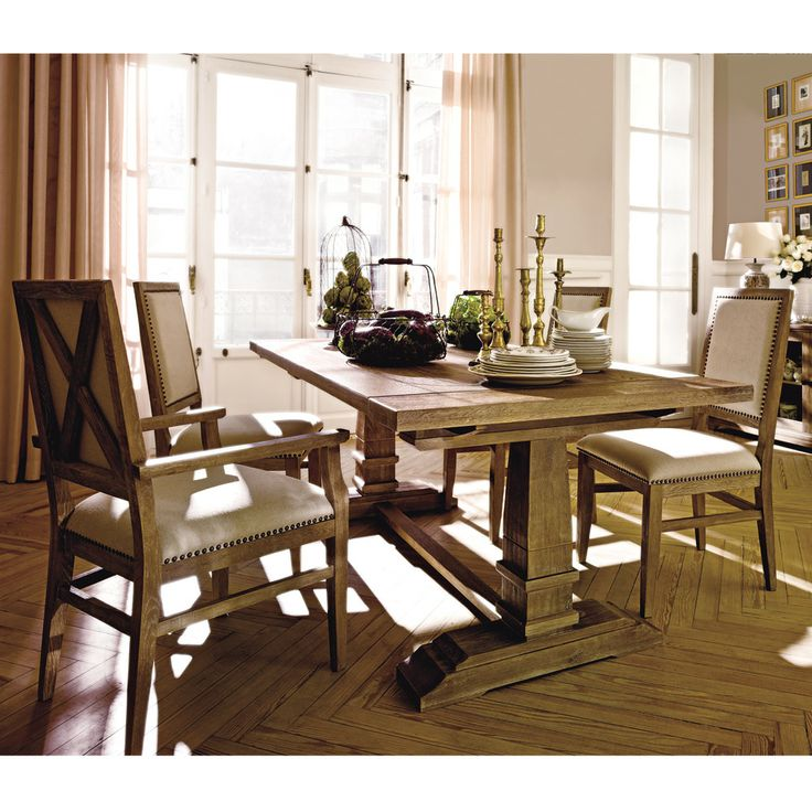 mesa de comedor extensible urban class vintage roble