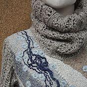 Купить или заказать Валяный свитер Сиреневый туман в интернет-магазине на Ярмарке Мастеров. Уникальный и неповторимый, даже если бы и захотела, свитер, любовно собранный из шелковых лоскутков, обрезков кружева и бархата, ленточек и ниточек, пайеток и бусинок, которые все вместе создают богатую фактуру, притягивающую взгляд. Рукава и воротник связаны из фактурной пряжи и окрашены вручную, на изнанке шелковые платочки Экспонировался на Формуле Рукоделия в рамках авторской коллекции…