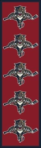NHL Team Repeat Florida Panthers Novelty Rug