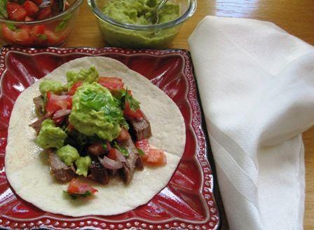 Beef Tacos with Avocado Sauce (Tacos de Carne con Salsa de Aguacate)
