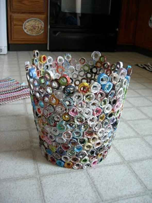 DIY Amazing Recycled Magazines Crafts That Will Inspire You   Do it yourself ideas and projects