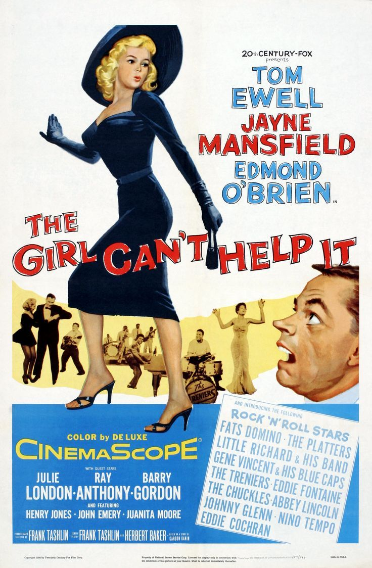 The Girl Can't Help It movie poster.