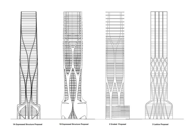 Structural Design of Zaha Hadid's 1000 Museum Revealed in CAD Drawings